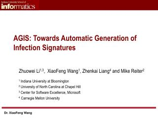 AGIS: Towards Automatic Generation of Infection Signatures