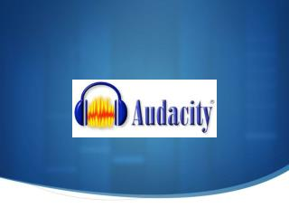 Welcome to Audacity