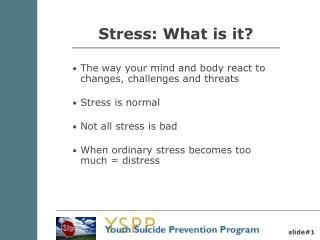 Stress: What is it?