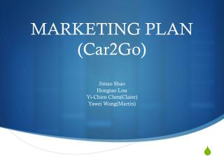 MARKETING PLAN (Car2Go)
