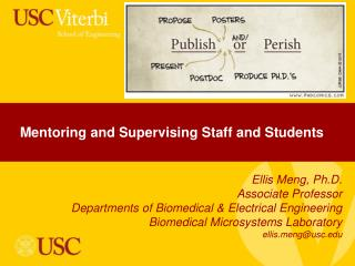 Mentoring and Supervising Staff and Students