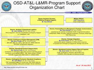 OSD-AT&L-L&MR-Program Support  Organization Chart