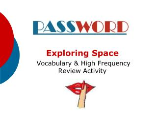 Exploring Space  Vocabulary & High Frequency Review Activity