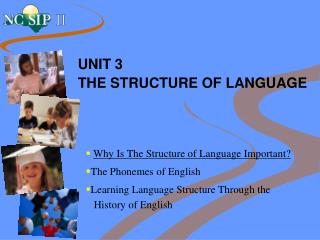 UNIT 3 THE STRUCTURE OF LANGUAGE