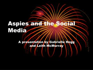 Aspies and the Social Media