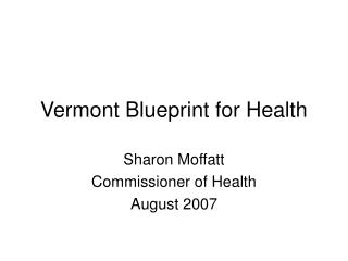 Vermont Blueprint for Health