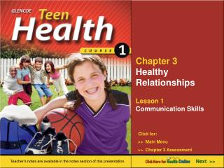 Chapter 3 Healthy Relationships