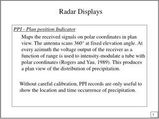 Radar Displays