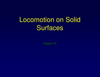 Locomotion on Solid Surfaces