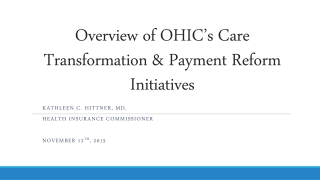 Evaluation of Patient-Centered Medical Home PCMH Initiatives