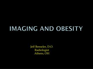 Imaging AND Obesity