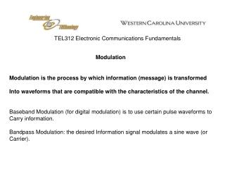TEL312 Electronic Communications Fundamentals