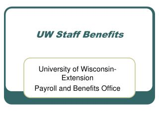 UW Staff Benefits