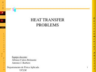 HEAT TRANSFER PROBLEMS