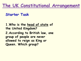 The European Union and the UK Constitution