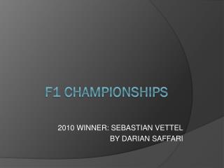F1 CHAMPIONSHIPS
