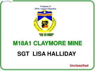 M18A1 CLAYMORE MINE