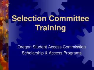 Selection Committee Training
