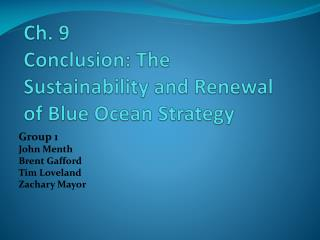 Ch. 9  Conclusion: The Sustainability and Renewal of Blue Ocean Strategy