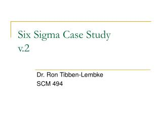 Six Sigma Case Study v.2