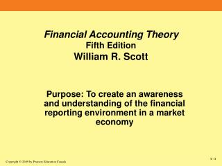 Financial Accounting Theory Fifth Edition William R. Scott