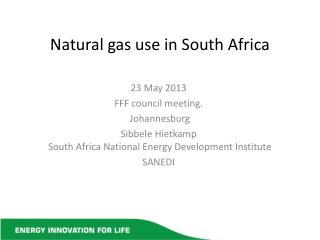 Natural gas use in South Africa