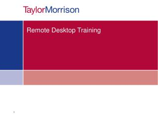 Remote Desktop Training