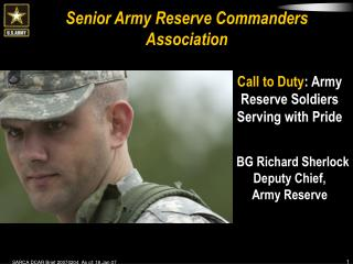Senior Army Reserve Commanders Association