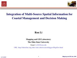 Integration of Multi-Source Spatial Information for Coastal Management and Decision Making