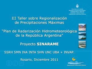 III Taller sobre Regionalización de Precipitaciones Máximas