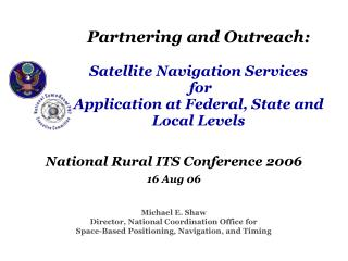 National Rural ITS Conference 2006 16 Aug 06