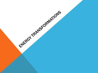 Energy transformations