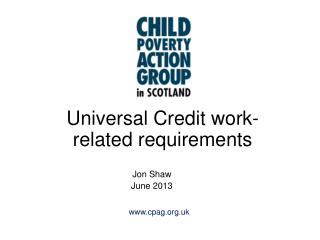 Universal Credit work-related requirements