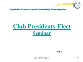 Optimist International Leadership Development