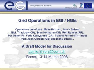 A Draft Model for Discussion Jamie.Shiers@cern.ch Rome, 13-14 March 2008