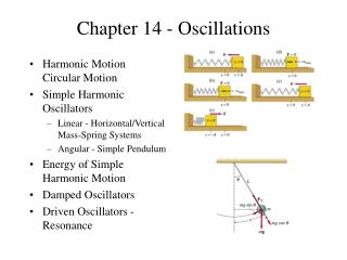 Chapter 14 - Oscillations