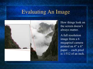 Evaluating An Image