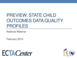 Preview: State Child Outcomes Data Quality profiles