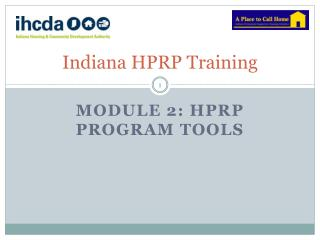 Indiana HPRP Training