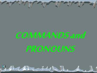 COMMANDS and PRONOUNS