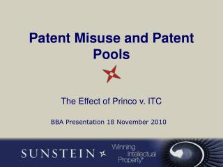 Patent Misuse and Patent Pools