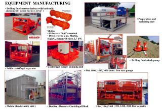 EQUIPMENT  MANUFACTURING