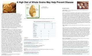 A High Diet of Whole Grains May Help Prevent Disease