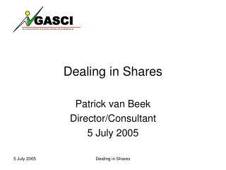 Dealing in Shares
