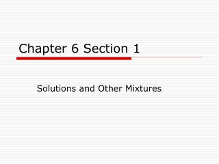Chapter 6 Section 1