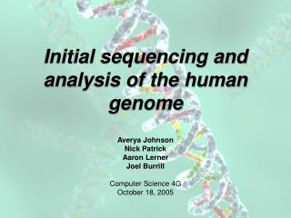 Initial sequencing and analysis of the human genome