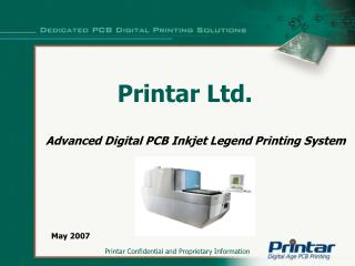 Advanced Digital PCB Inkjet Legend Printing System