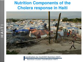 Nutrition Components of the  Cholera response in Haiti