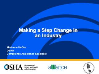Marianne McGee OSHA Compliance Assistance Specialist