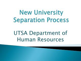 New University  Separation Process